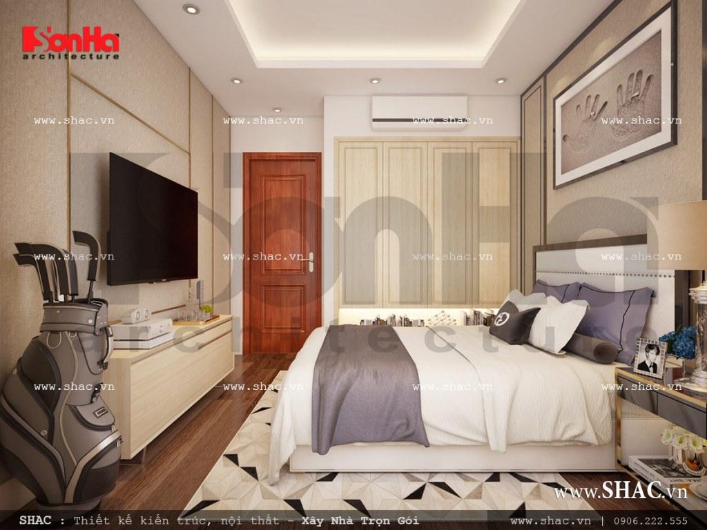 Mẫu nội thất phòng ngủ 2 cổ điển đẹp sh nop 0110