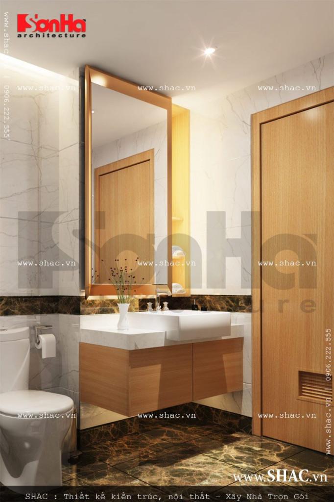 Thiết kế phòng tắm wc phòng ngủ 1 view3 khách sạn mini cổ điển đẹp sh ks 0027
