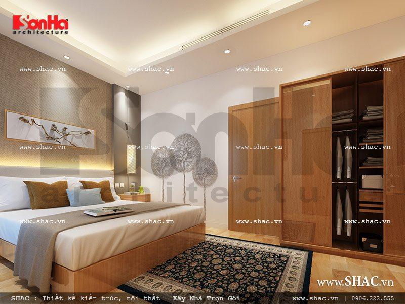 Mẫu thiết kế nội thất phòng ngủ 2 view1 khách sạn mini cổ điển đẹp sh ks 0027
