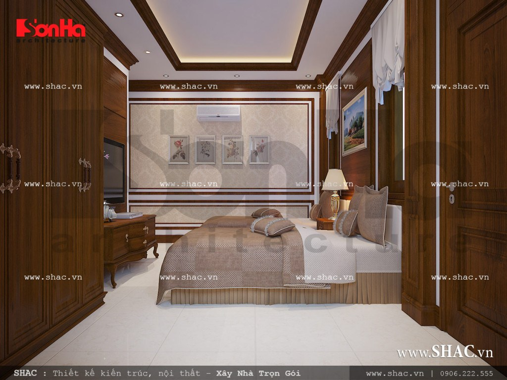 Thiết kế nội thất phòng ngủ ông bà sh nop 0111