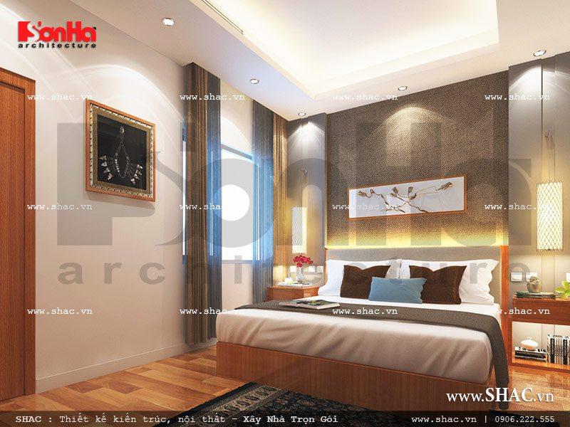 Thiết kế nội thất phòng ngủ 2 view2 khách sạn mini cổ điển đẹp sh ks 0027