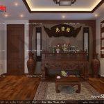 Mẫu nội thất phòng thờ cổ điển đẹp sh nop 0111