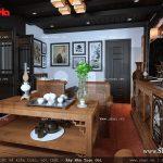 Thiết kế nội thất phòng trưng bày nhà ống cổ điển sh nop 0113