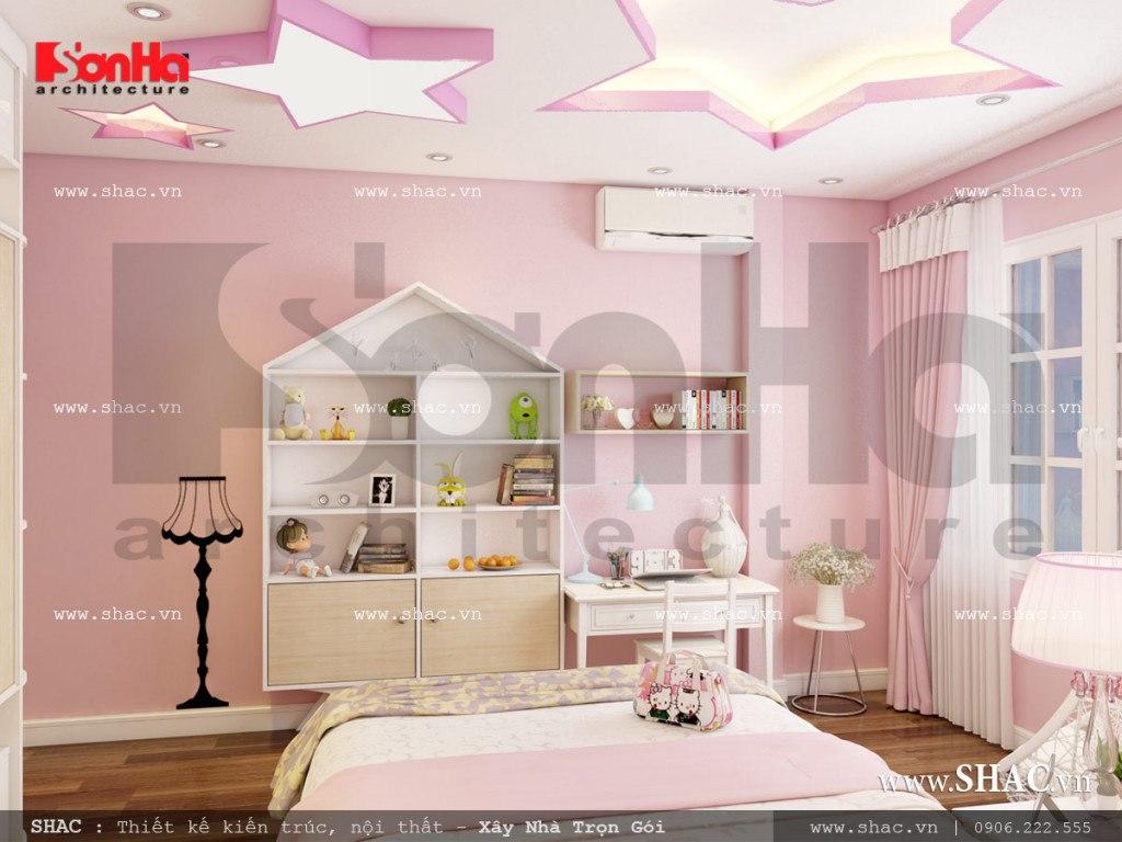Thiết kế nội thất phòng ngủ con gái cổ điển Pháp sh nop 0110
