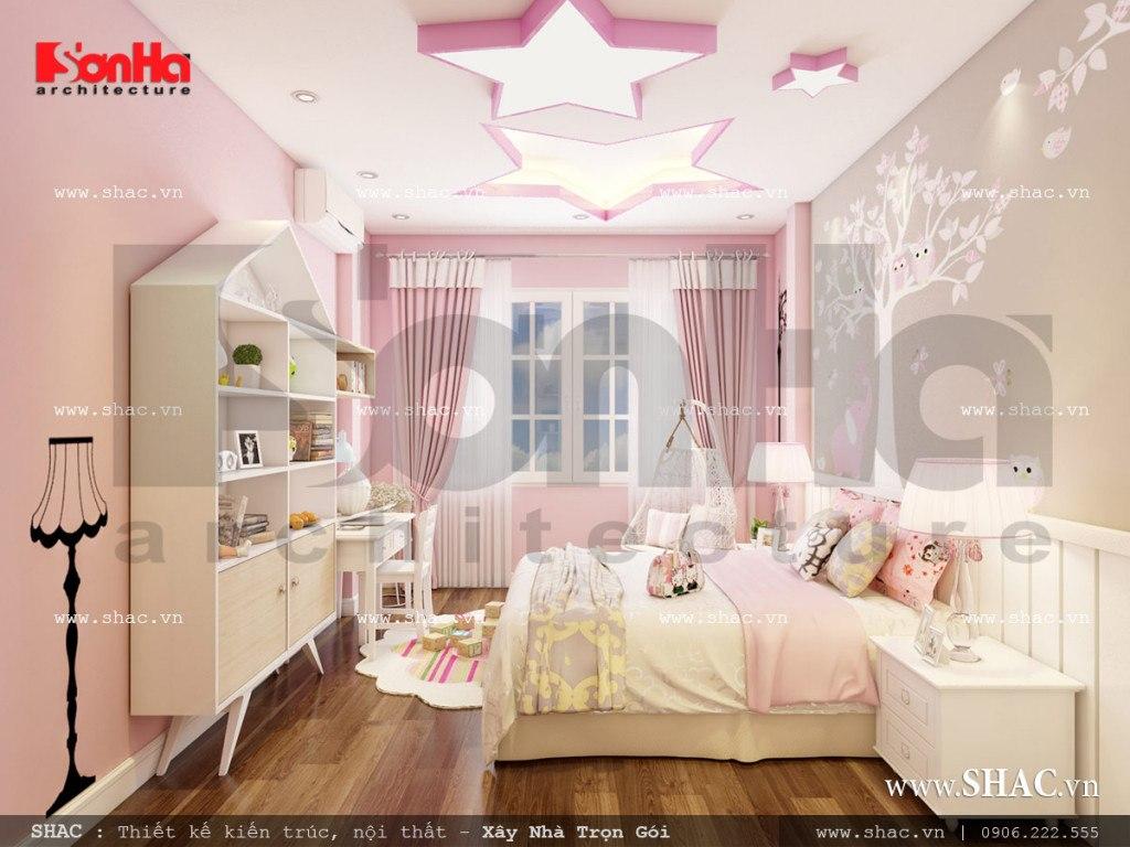 Mẫu nội thất phòng ngủ con gái cổ điển Pháp sh nop 0110