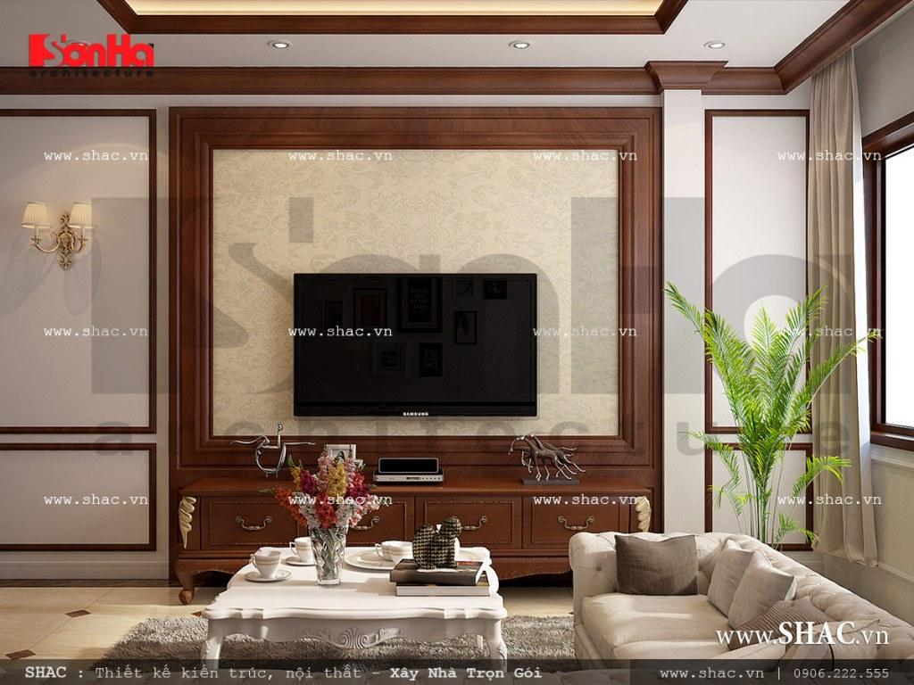 Thiết kế nội thất phòng sinh hoạt cổ điển Pháp sh nop 0110