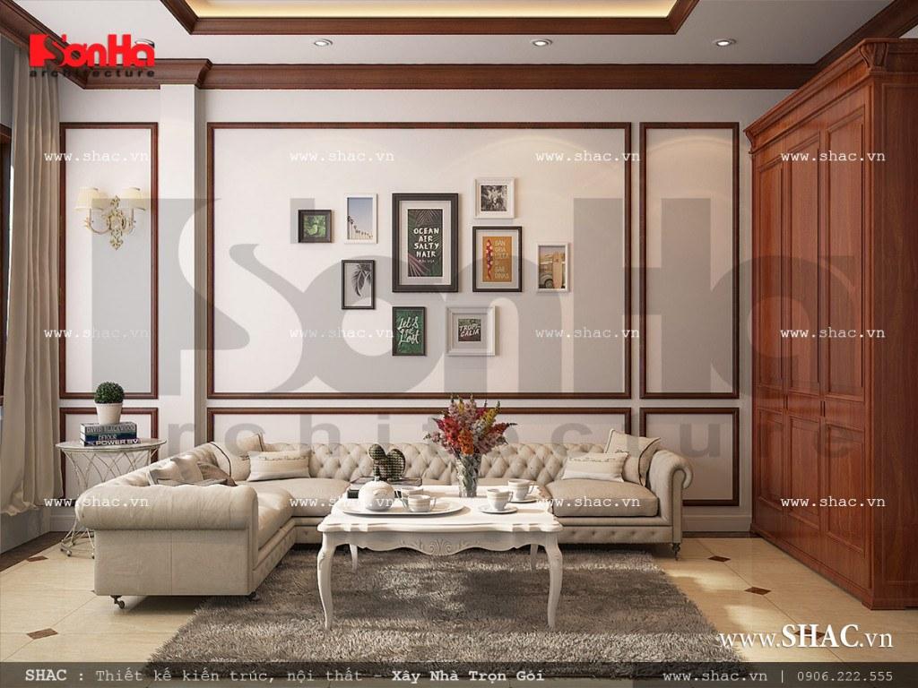 Mẫu nội thất phòng sinh hoạt cổ điển Pháp sh nop 0110