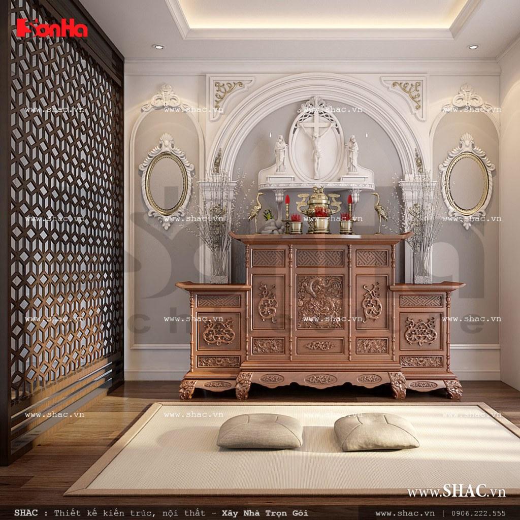 Mẫu nội thất phòng thờ cổ điển sh nop 0110