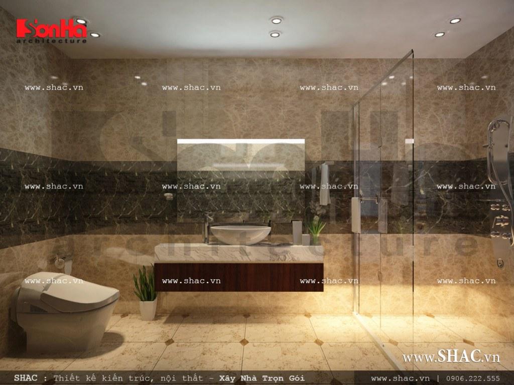 Thiết kế nội thất phòng wc tầng 2 sh nop 0113