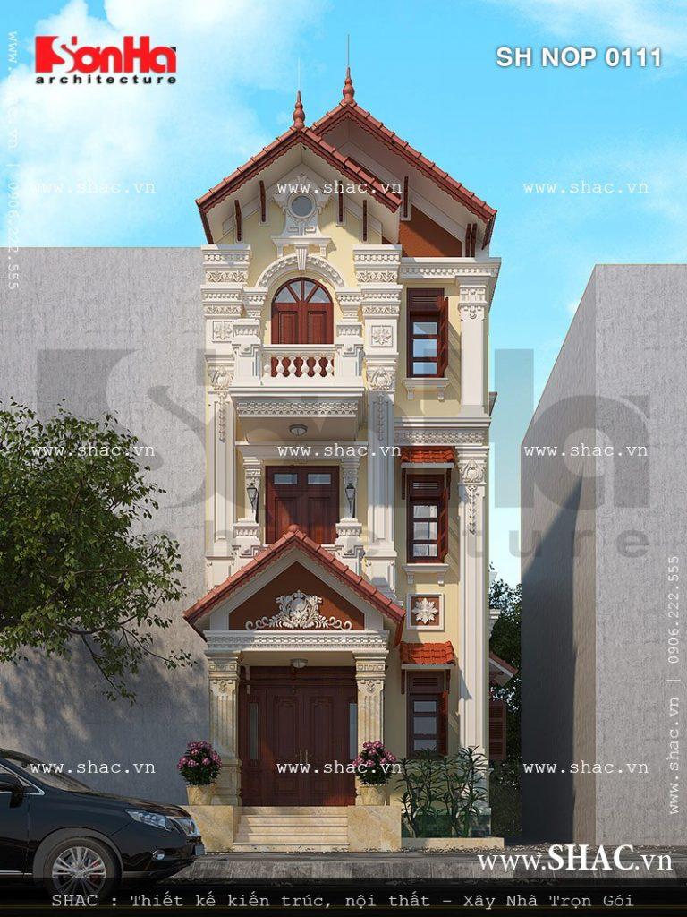 Kiến trúc nhà phố cổ điển phong cách Pháp đẳng cấp sh nop 0111