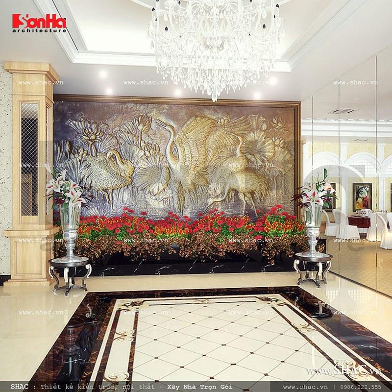 Thiết kế nội thất hội trường tiệc cưới nhà hàng sang trọng khu 1 tầng tại Gia Lai sh bck 0041