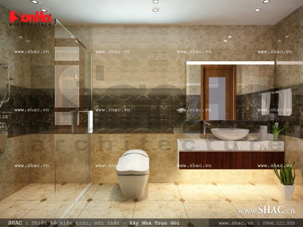 Mẫu thiết kế nội thất phòng wc tầng 4 sh nop 0113