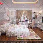 Thiết kế nội thất phòng ngủ con gái cổ điển sh nop 0112
