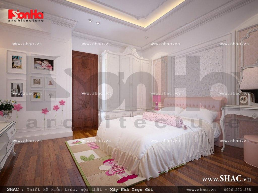 Mẫu thiết kế nội thất phòng ngủ con gái cổ điển sh nop 0112