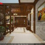 Thiết kế nội thất phòng khách cổ điển sang trọng sh nop 0111