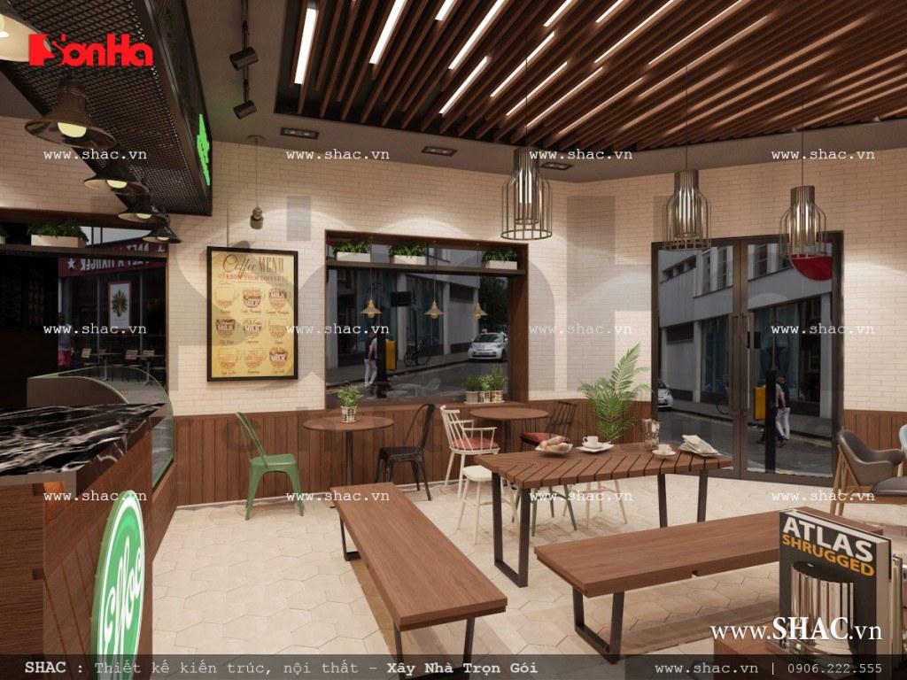Mẫu thiết kế nội thất phòng 1 quán cafe đẹp đẳng cấp sh bck 0040