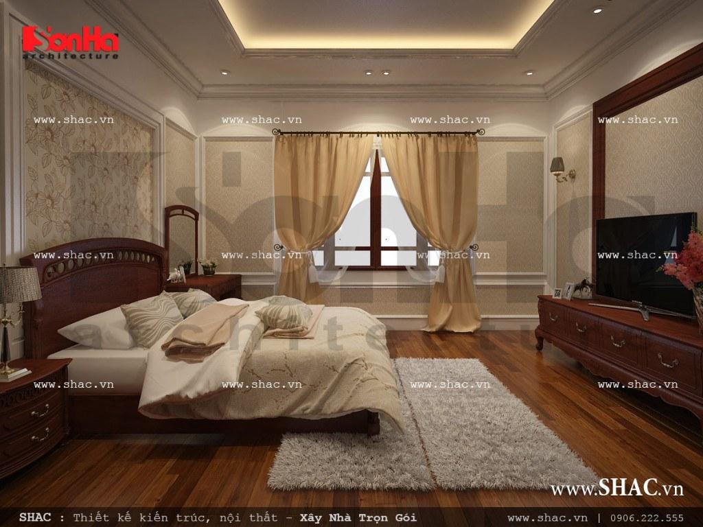 Thiết kế nội thất phòng ngủ 1 cổ điển sh nop 0112