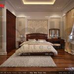 Mẫu thiết kế nội thất phòng ngủ 1 cổ điển sh nop 0112
