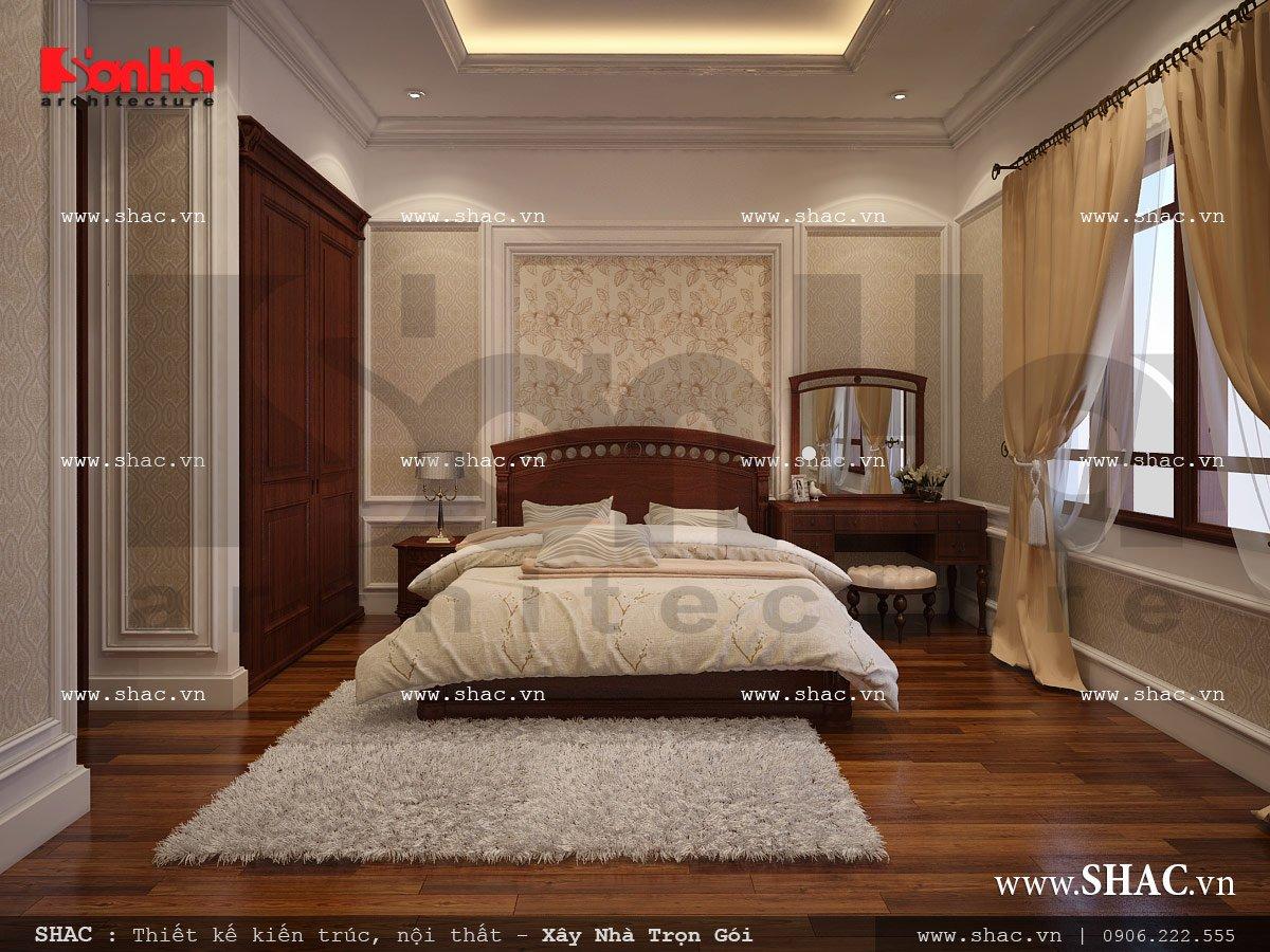 Mẫu thiết kế nhà ống kiến trúc cổ điển Pháp 5 tầng tại Quảng Ninh – SH NOP 0112 8