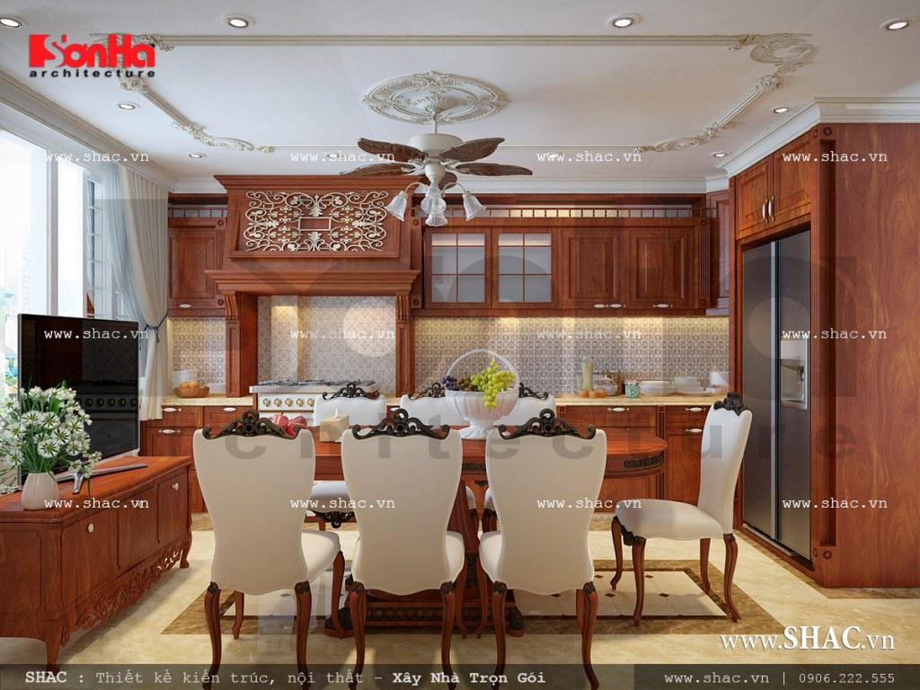 Mẫu nội thất phòng bếp phong cách Pháp đẹp sh nop 0110