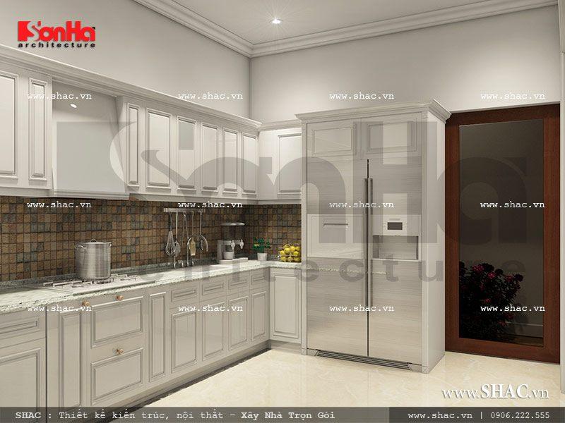 nội thất tủ bếp của khách sạn mini, thiet ke phong bep cua khach san mini 7 tang