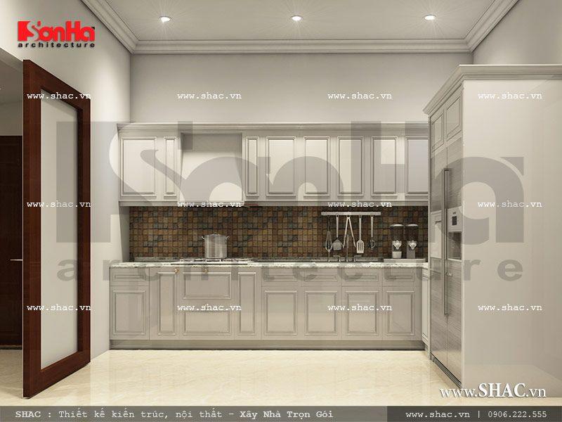 Mẫu thiết kế khu bếp khách sạn mini cổ điển đẹp sh ks 0027