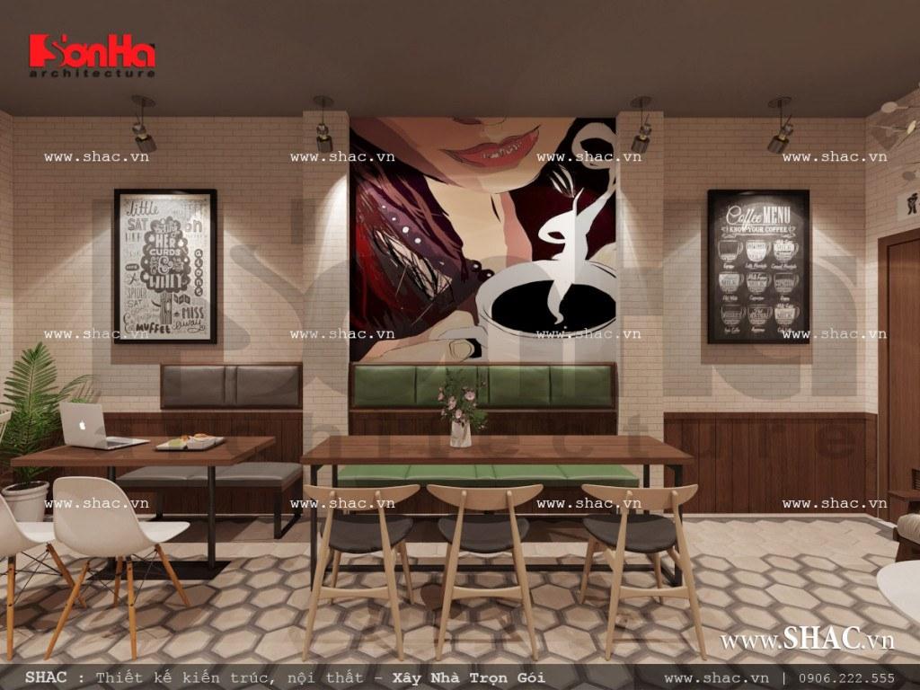 Thiết kế nội thất phòng 2 quán cafe sh bck 0040