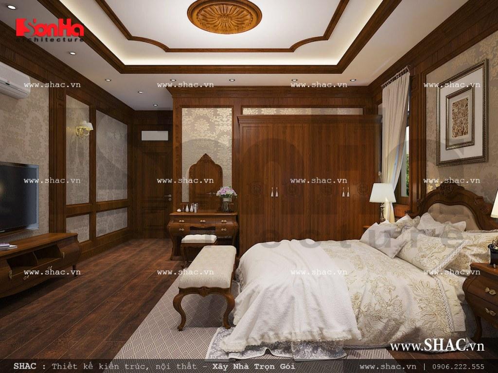 Nội thất phòng ngủ bố mẹ phong cách cổ điển sh nop 0111
