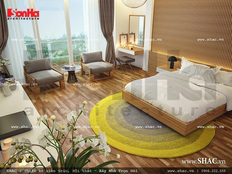 mẫu bàn ghế phòng ngủ khách sạn 4 sao đẹp