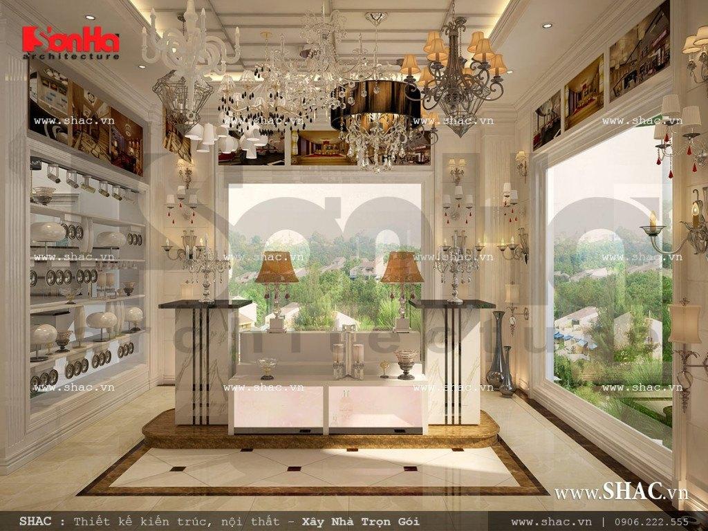 Mẫu biệt thự kiến trúc Pháp 4 tầng kết hợp làm showroom tại TP. Hồ Chí Minh – SH BTP 0092 8