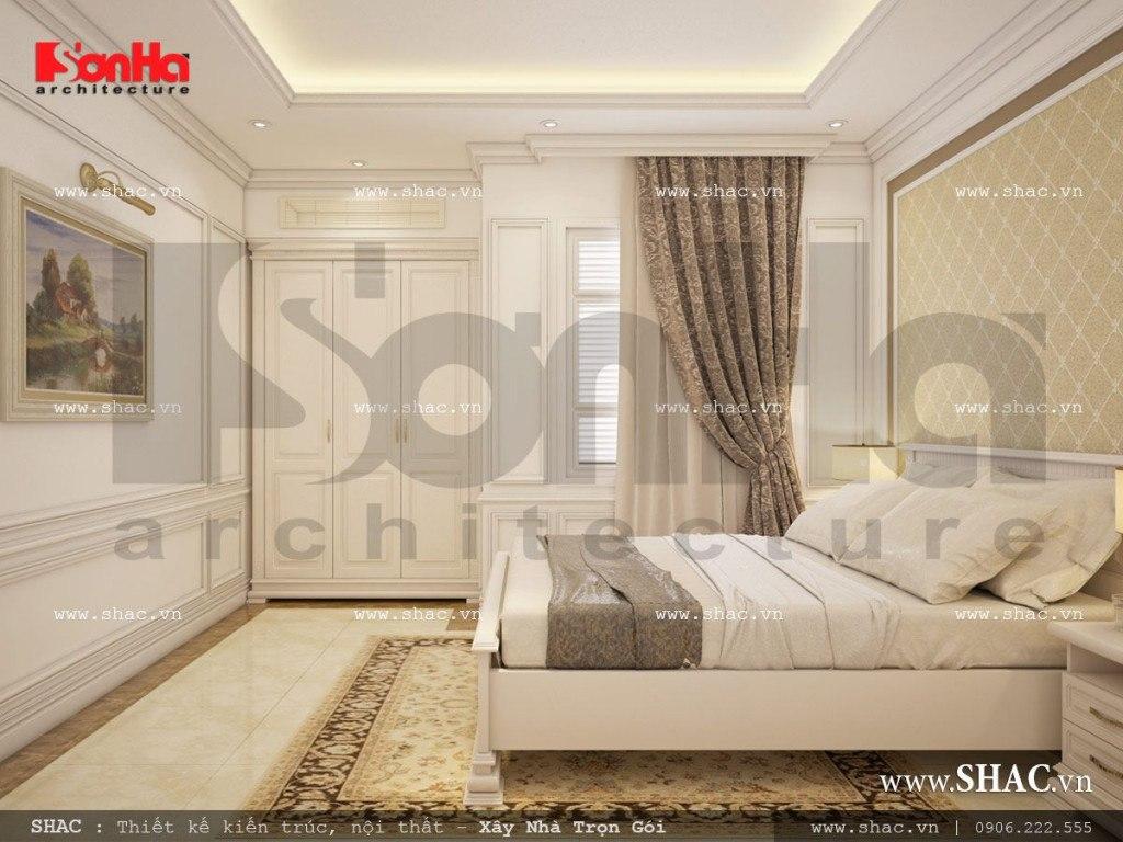 Mẫu biệt thự kiến trúc Pháp 4 tầng kết hợp làm showroom tại TP. Hồ Chí Minh – SH BTP 0092 15