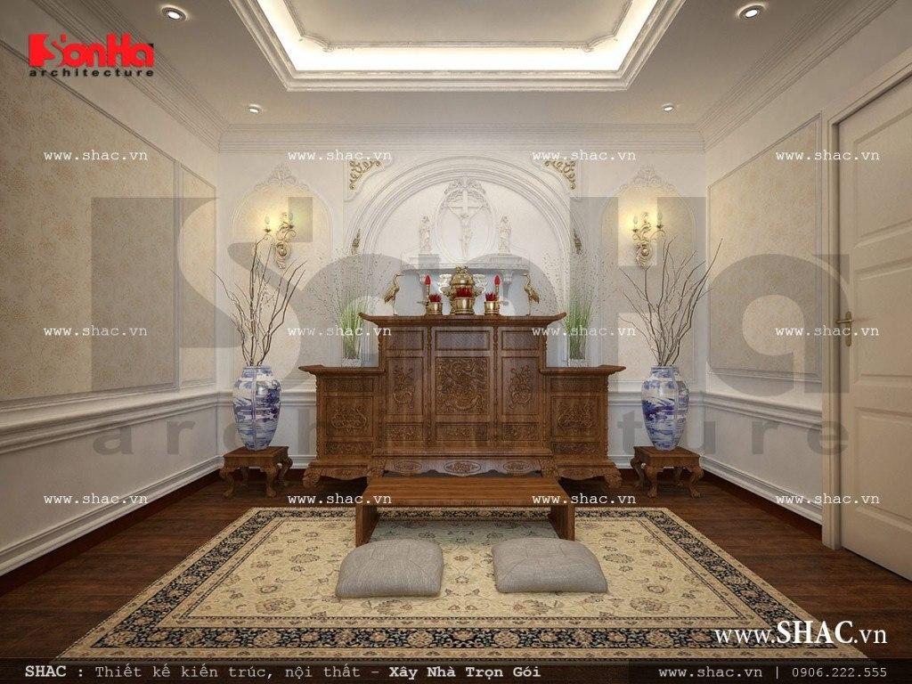 Mẫu biệt thự kiến trúc Pháp 4 tầng kết hợp làm showroom tại TP. Hồ Chí Minh – SH BTP 0092 17