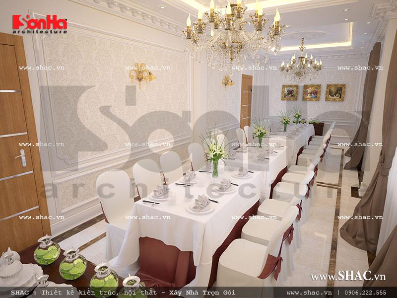 Mẫu nội thất phòng ăn của nhà hàng cổ điển Pháp sh bck 0042