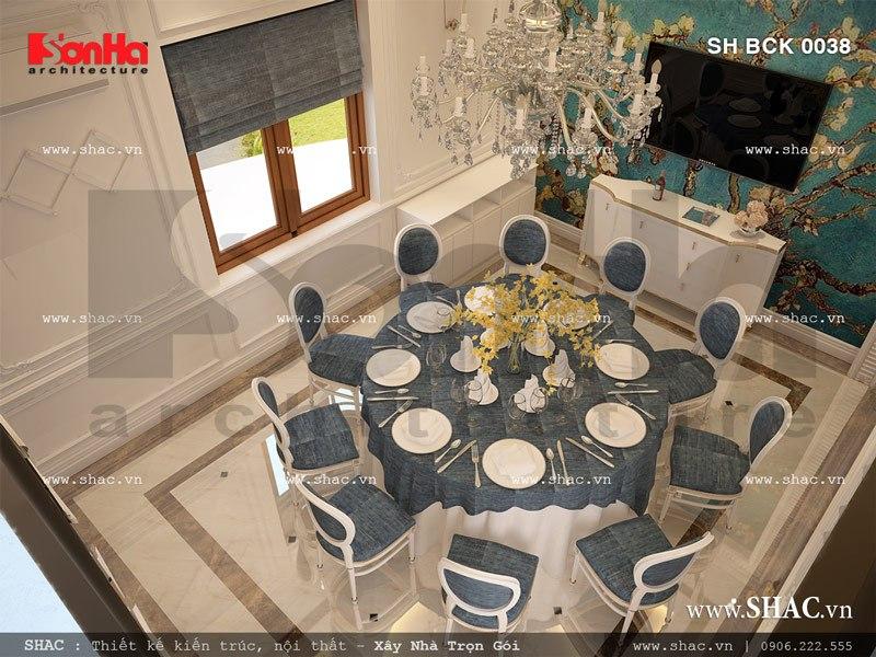 Mẫu nội thất phòng ăn VIP nhà hàng sang trọng SH BCK 0038