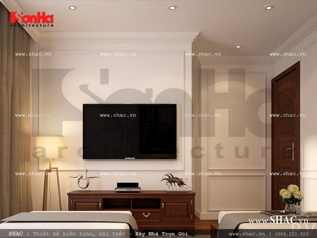 Mẫu nội thất phòng ngủ VIP 4 khách sạn Pháp sang trọng sh ks 0026