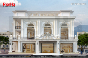 Mẫu thiết kế nhà hàng sang trọng kiến trúc Pháp SH BCK 0038