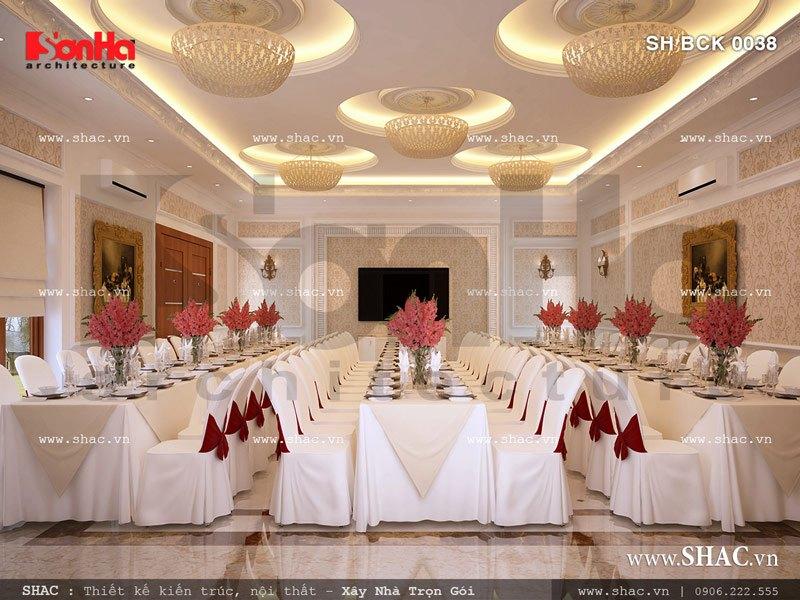 Nội thất phòng ăn VIP 67 đẹp phong cách cổ điển SH BCK 0038