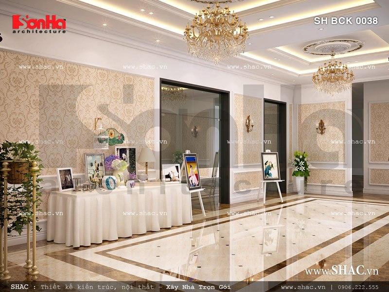Nội thất sảnh tiệc cưới nhà hàng đẳng cấp SH BCK 0038