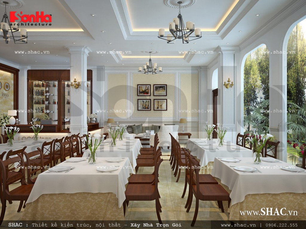 Quầy lễ tân khách sạn cổ điển Pháp sh ks 0026