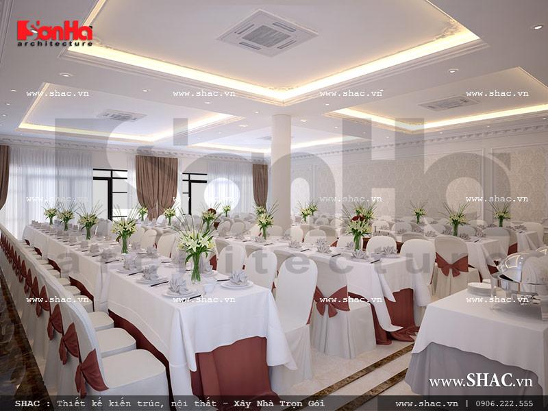Thiết kế nội thất phòng ăn sức chứa lớn của nhà hàng tại Gia Lai sh bck 0042