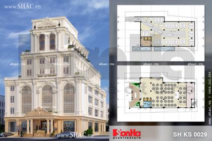 Thiết kế tổ hợp khách sạn nhà hàng trung tâm tổ chức sự kiện đẳng cấp tại Quảng Ninh sh ks 0029