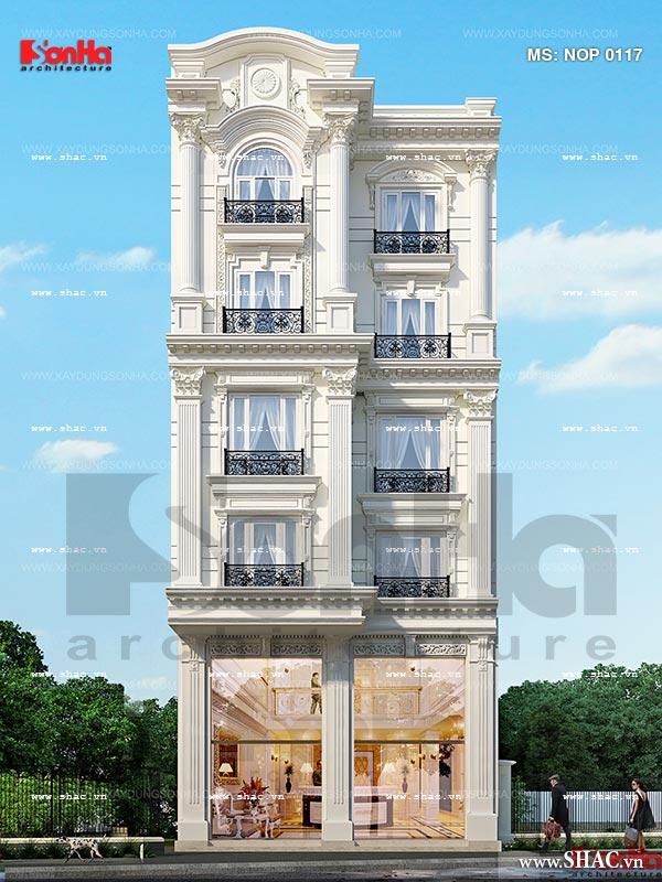 Mặt tiền nhà phố kiến trúc Pháp sang trọng tại Sài Gòn sh nop 0117