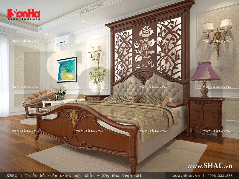 Thiết kế nội thất phòng ngủ 2 view 1 nhà phố kiến trúc Pháp sh nop 0117
