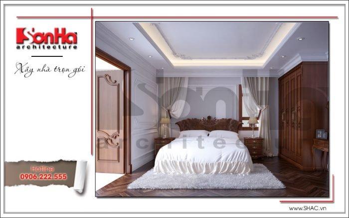 Thiết kế biệt thự kiến trúc Pháp 3 tầng mái ngói đỏ tại Ninh Bình – SH BTP 0094 55
