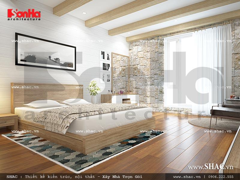 Mẫu thiết kế nội thất phòng ngủ 3 view 1 nhà phố kiến trúc Pháp sh nop 0117