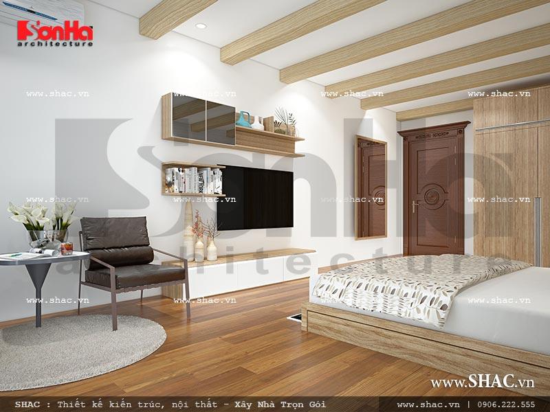 Thiết kế nội thất phòng ngủ 3 view 2 nhà phố kiến trúc Pháp sh nop 0117