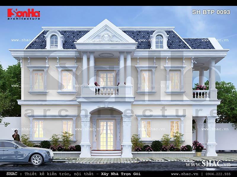 Thiết kế kiến trúc biệt thự cổ điển Pháp đẹp tại Sài Gòn sh btp 0093