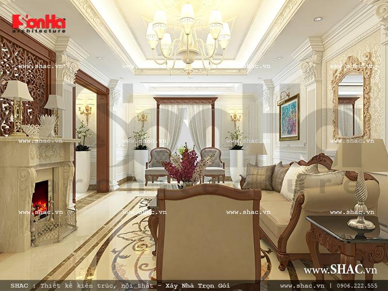 Thiết kế nội thất phòng khách nhà phố kiến trúc Pháp sh nop 0117