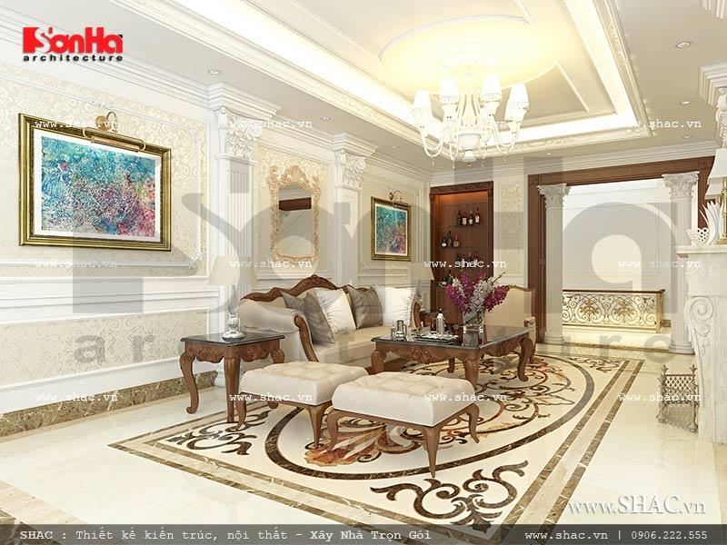 Mẫu thiết kế nội thất phòng khách nhà phố kiến trúc Pháp sh nop 0117