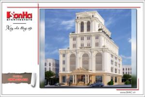 Thiết kế tổ hợp khách sạn nhà hàng trung tâm tổ chức sự kiện đẹp – SH KS 0029 15